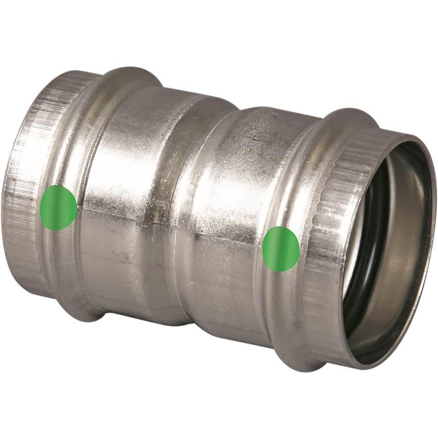 Viega Propress Coupling with Stop 316 Stainless 80280